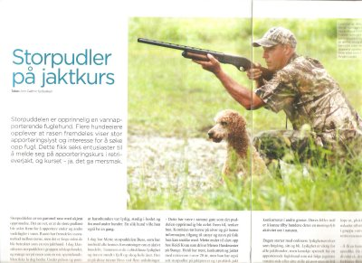 An article about us in Hundesport Magazine.
